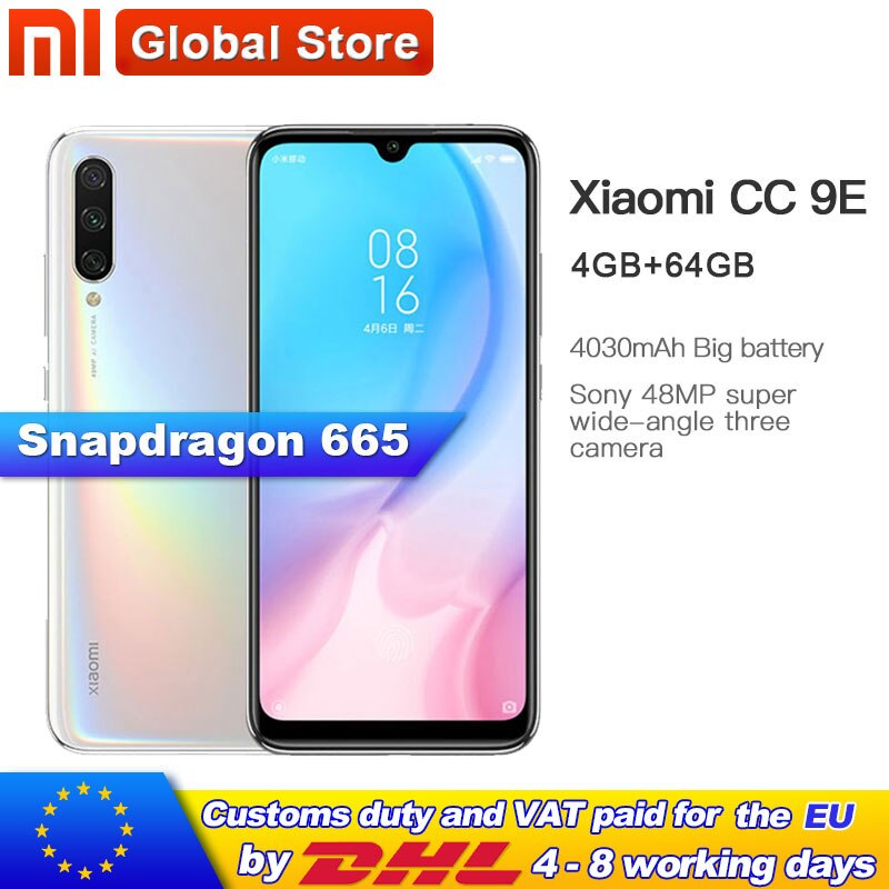 Legend Coupon xiaomi-mi-cc9e-64gb-4gb-mobilephone-snapdragon-665-octa-core-4030mah-rear-three-shots-4832mp-camera-amoled-screen-miui-10 Smart phone