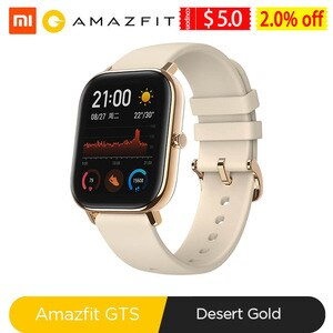 Amazfit GTS Smart Watch Global Version 5ATM Waterproof Swimming Pressure Men Women Smartwatch Band for Xiaomi Android Phone IOS